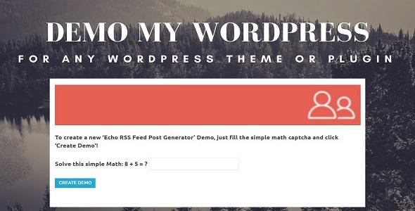 Demo My WordPress – Temporary WordPress Install Creator